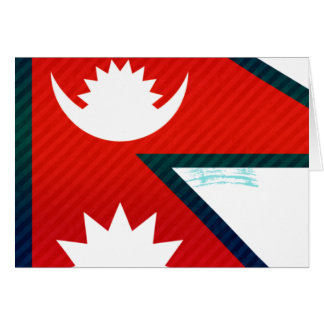 Modern Stripped Nepalese flag Greeting Cards