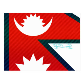 Modern Stripped Nepalese flag Post Card