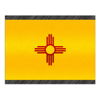 Modern Stripped New Mexican flag Postcard