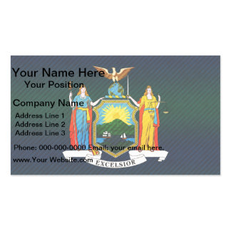 Modern Stripped New Yorker flag Double-Sided Standard Business Cards (Pack Of 100)