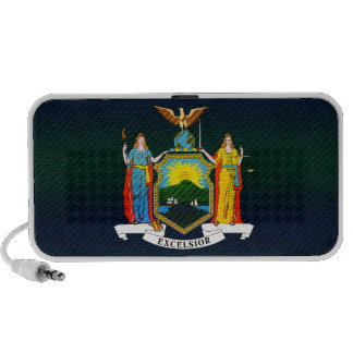 Modern Stripped New Yorker flag Portable Speakers