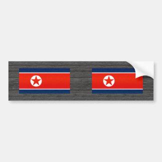 Modern Stripped North Korean flag Bumper Sticker