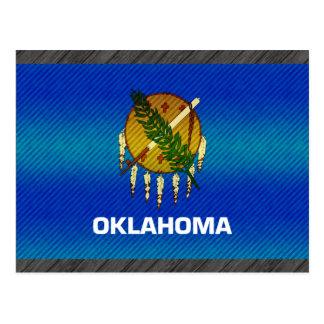 Modern Stripped Oklahoman flag Postcard