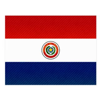 Modern Stripped Paraguayan flag Postcard