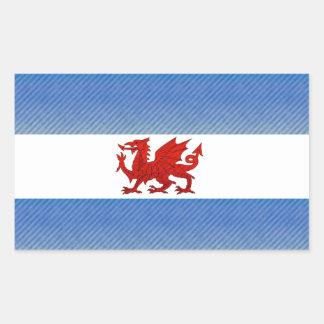 Modern Stripped Patagonian flag Rectangular Sticker