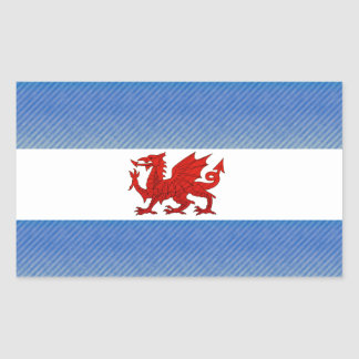 Modern Stripped Patagonian flag Stickers