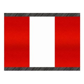 Modern Stripped Peruvian flag Postcard