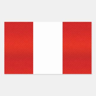 Modern Stripped Peruvian flag Rectangular Sticker
