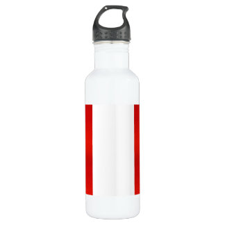 Modern Stripped Peruvian flag Stainless Steel Water Bottle