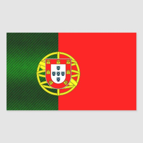 Modern Stripped Portuguese flag Rectangular Sticker