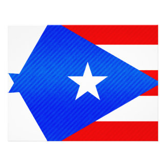 Modern Stripped Puerto Rican flag Flyers