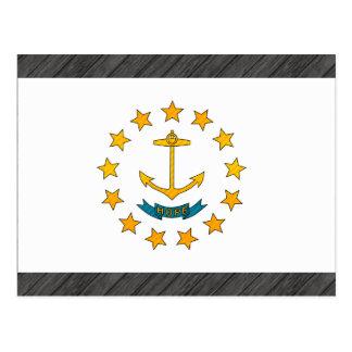 Modern Stripped Rhode Islander flag Postcard