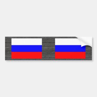 Modern Stripped Russian flag Bumper Sticker
