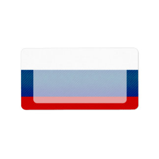 Modern Stripped Russian flag Label