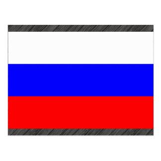 Modern Stripped Russian flag Postcard