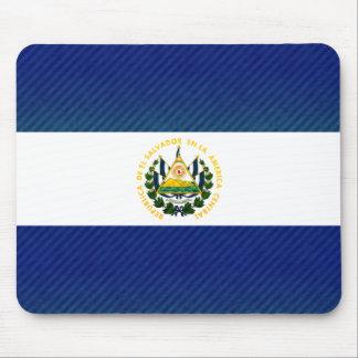 Modern Stripped Salvadoran flag Mouse Pad