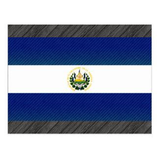 Modern Stripped Salvadoran flag Postcard