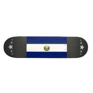 Modern Stripped Salvadoran flag Skate Board