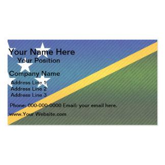 Modern Stripped Solomon Islander flag Business Card