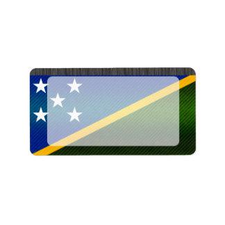 Modern Stripped Solomon Islander flag Label