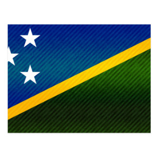 Modern Stripped Solomon Islander flag Postcard