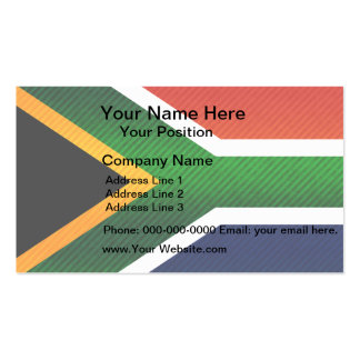 Modern Stripped South African flag Business Card