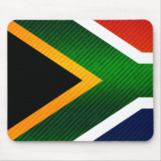 Modern Stripped South African flag Mouse Pads