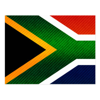 Modern Stripped South African flag Postcard