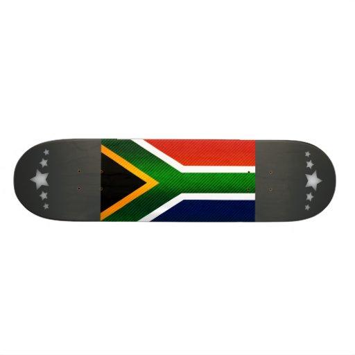 Modern Stripped South African flag Skateboard