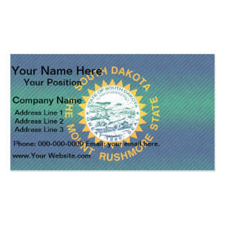 Modern Stripped South Dakotan flag Double-Sided Standard Business Cards (Pack Of 100)