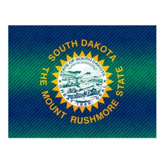 Modern Stripped South Dakotan flag Postcard