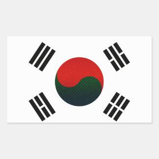 Modern Stripped South Korean flag Stickers