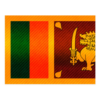 Modern Stripped Sri Lankan flag Postcard