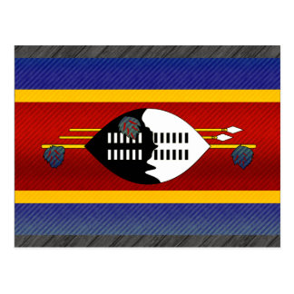 Modern Stripped Swazi flag Postcard