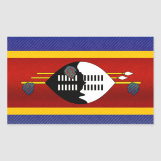 Modern Stripped Swazi flag Rectangular Sticker