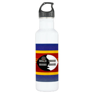 Modern Stripped Swazi flag Water Bottle