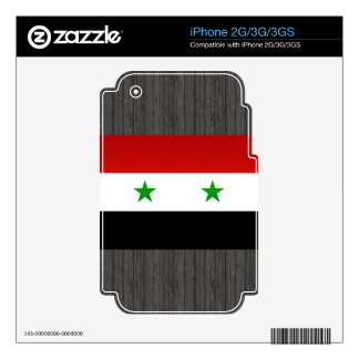 Modern Stripped Syrian flag Skins For The iPhone 2G