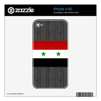 Modern Stripped Syrian flag Skins For The iPhone 4S