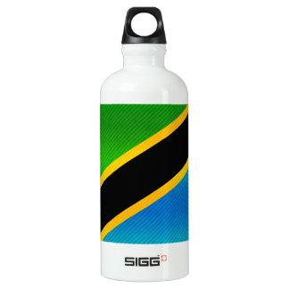 Modern Stripped Tanzanian flag Aluminum Water Bottle