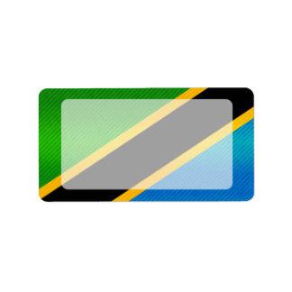 Modern Stripped Tanzanian flag Label