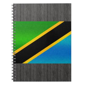 Modern Stripped Tanzanian flag Notebook