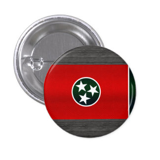 Modern Stripped Tennessean flag Pinback Buttons