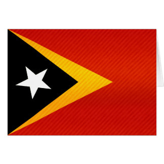 Modern Stripped Timorese flag Card