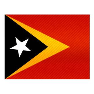 Modern Stripped Timorese flag Postcard
