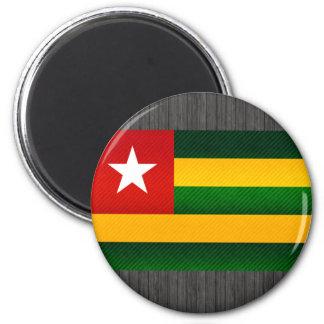 Modern Stripped Togolese flag Fridge Magnet