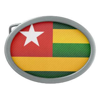 Modern Stripped Togolese flag Oval Belt Buckles
