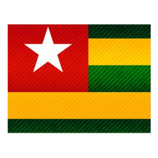 Modern Stripped Togolese flag Postcard