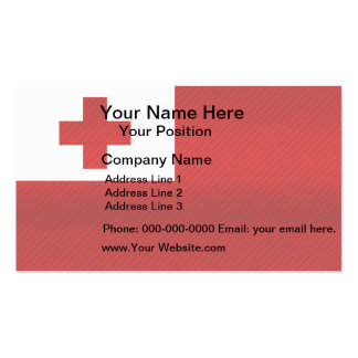 Modern Stripped Tongan flag Business Card Template