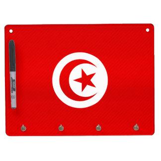 Modern Stripped Tunisian flag Dry Erase Board With Keychain Holder