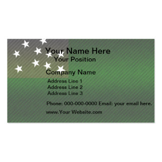 Modern Stripped Vermont flag Business Card